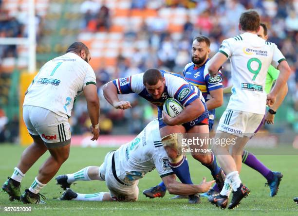 Wilco Louw of the Stormers during the Super Rugby match between DHL Stormers and Chiefs at DHL Newlands Stadium on May 12 2018 in Cape Town South...