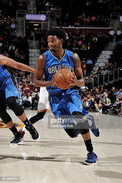 J Wilcox of the Orlando Magic handles the ball against he Cleveland Cavaliers on October 5 2016 at Quicken Loans Arena in Cleveland Ohio NOTE TO USER...