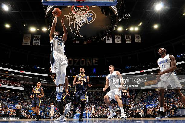 J Wilcox of the Orlando Magic shoots the ball against the Indiana Pacers on October 14 2016 at the Amway Center in Orlando Florida NOTE TO USER User...