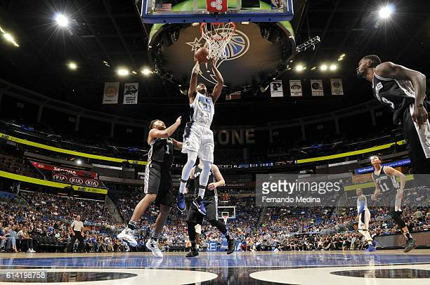 J Wilcox of the Orlando Magic shoots the ball against the San Antonio Spurs on October 12 2016 at the Amway Center in Orlando Florida NOTE TO USER...