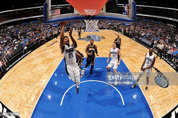 J Wilcox of the Orlando Magic shoots the ball during a preseason game against the Indiana Pacers on October 14 2016 at Amway Center in Orlando...