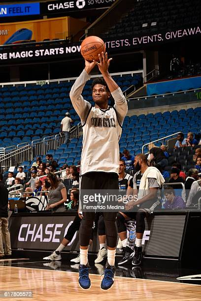J Wilcox of the Orlando Magic shoots the ball during an open practice on October 15 2016 at Amway Center in Orlando Florida NOTE TO USER User...