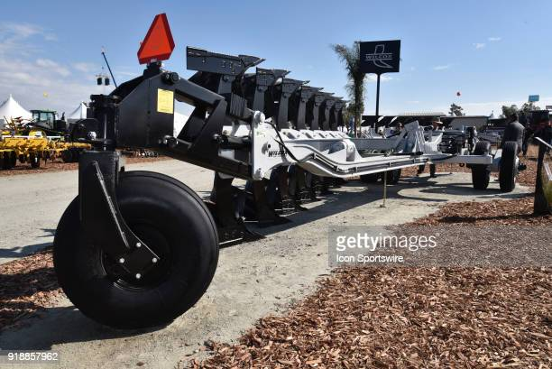 Wilcox super duty plow designed for 500 hp plus tractors on display during the 51st World Ag Expo on February 13 2018 at the International AgriCenter...