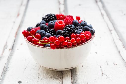 Wild berries in bowl - gettyimageskorea