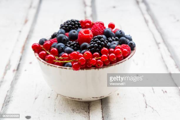 Wild berries in bowl