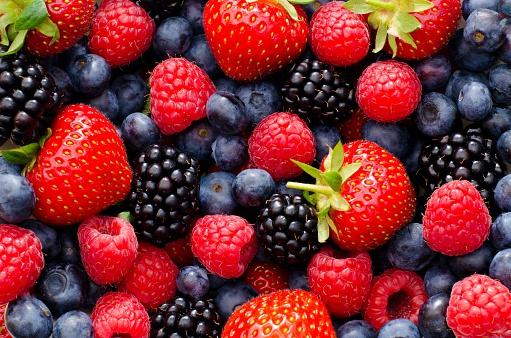 Wild berry mix - strawberries, blueberries, blackberries and raspberries 499658564