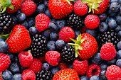 Wild berry mix - strawberries, blueberries, blackberries and raspberries