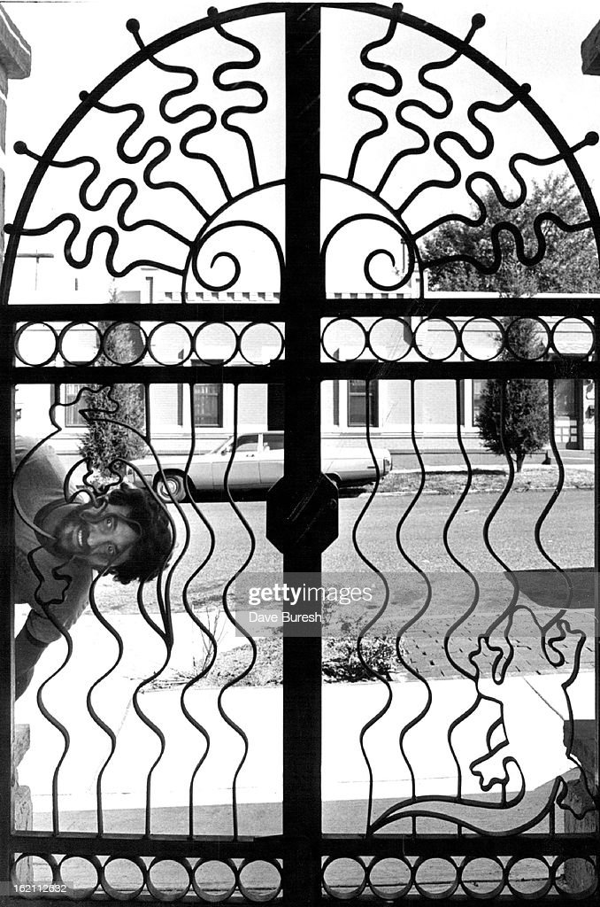 sep 1982 sep 25 1982 wild bill behind wrought iron gate 1970s Artwork sep 1982 sep 25 1982 wild bill behind wrought iron gate pictures getty images