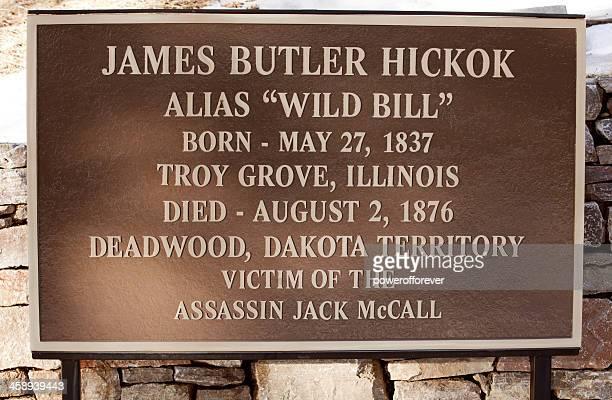 Wild Bill Hickok's Death Plaque - Deadwood, South Dakota