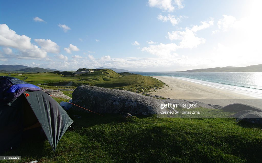 Wild Camping At Luskentyre Beach Stock Photo - Getty Images