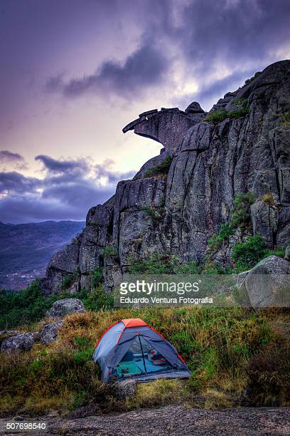 Wild camping near the Bico do Patelo, PORTUGAL at dusk