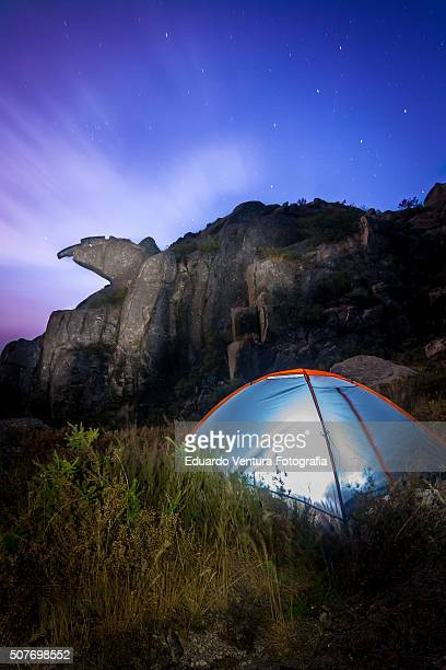Wild camping near the Bico do Patelo, PORTUGAL at night