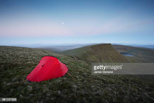 Wild camping under a full moon