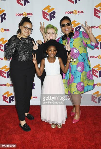 Wild Child DJ CherishtheLuv and Saniah Reese attend the PowHERful Benefit Gala on June 13 2018 at Tribeca Rooftop in New York City