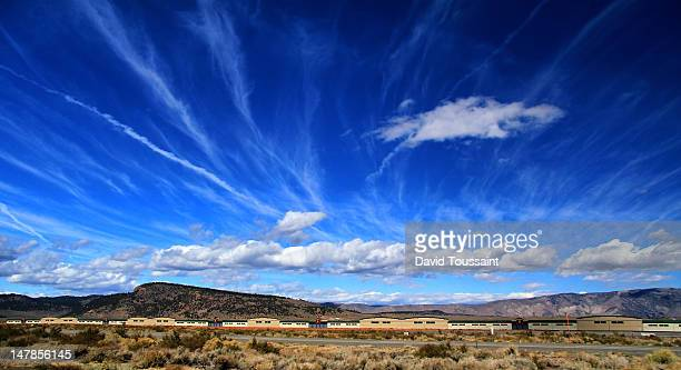 Wild clouds over mammoth airport