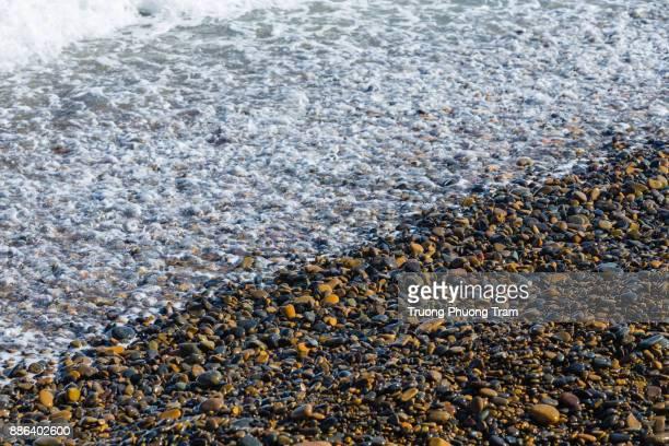 Wild coast beach with a lot of rock at Co Thach, Binh Thuan, Vietnam