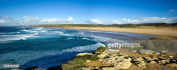 Wild coastal landscape, beach, Playa de Carrapateira beach, Parque Natural do Sudoeste Alentejano e Costa Vicentinantinantina nature reserve, Algarve region, Portugal, Europe