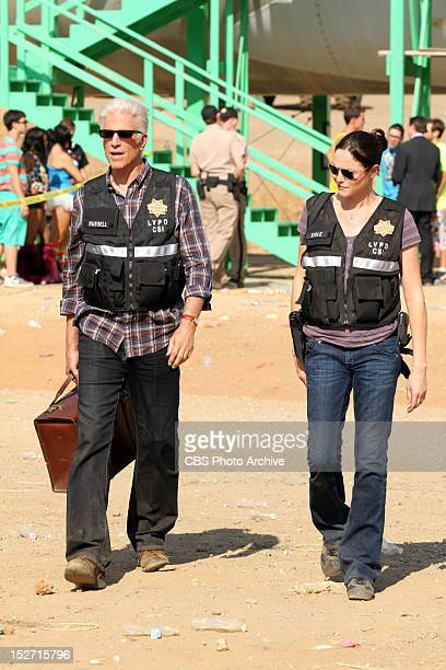 Wild Flowers DB Russell and Sara Sidle walk towards the crime scene wondering what happened on CSI SCENE INVESTIGATION Wednesday Oct 17 on the CBS...