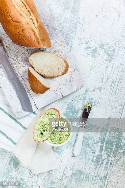 Wild garlic butter and french bread