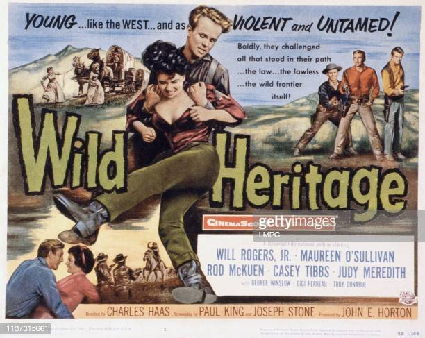 Wild Heritage poster US poster bottom from left Rod McKuen Judi Meredith center from front Gigi Perreau Gary Gray right from left Gary Gray rod...