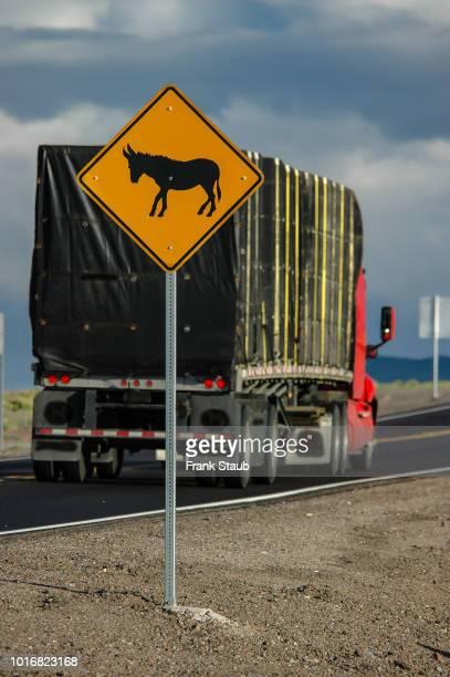 Wild Horse Crossing Warning Sign