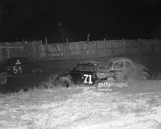 Wild Modified stock car racing action was the norm during events at Greensboro Fairgrounds