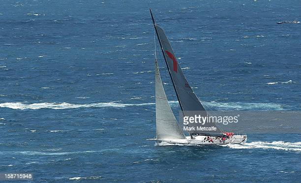 'Wild Oats XI' heads out to sea during the 2013 Sydney to Hobart on Sydney Harbour on December 26 2012 in Sydney Australia