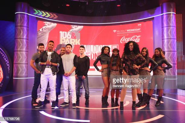Wild Out Wednesday contestants Made to Last and Jasime perform during BET's 106 Park at BET Studios on August 7 2013 in New York City