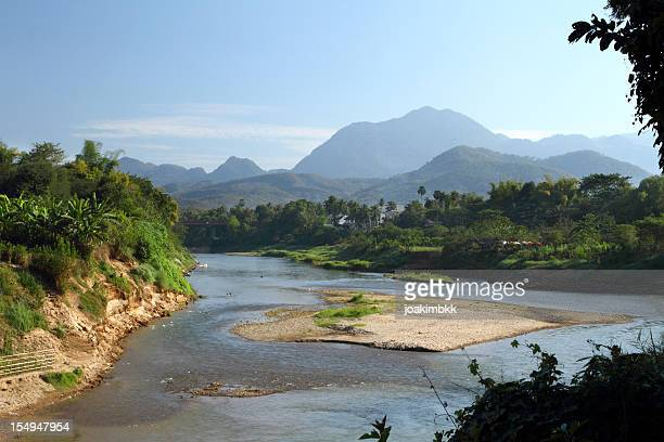Wild river in Luang Prabang in Laos