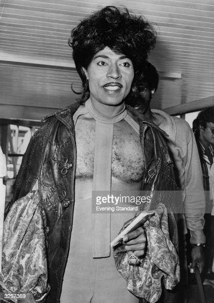 Wild rock 'n' roll legend, singer Little Richard, prior to a concert at Wembley, London.