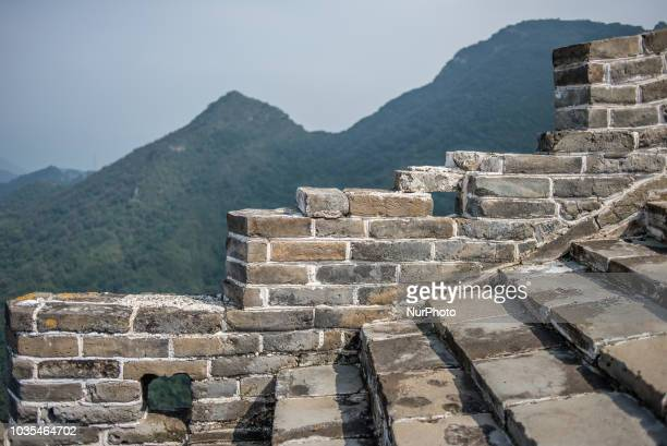 A wild section of the Great Wall of China Chenjiapu village Yanqing County China on September 12 2018