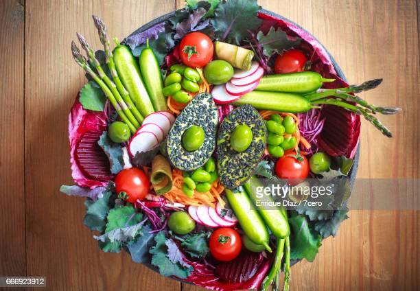 Wild Spring Vegetable and Pickle Salad