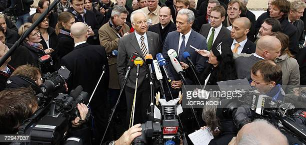 Edmund Stoiber Bavarias State Premier and leader of Germanys conservative Christian Social Union party and CSU parliamentary group leader Peter...