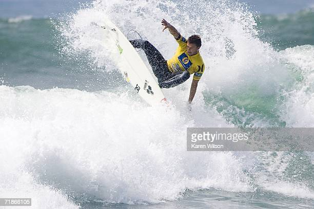 Wildcard Dane Reynolds surfs during the Boost Mobile Pro on September 12 2006 at Lower Trestles in San Clemente California Reynolds put on an...
