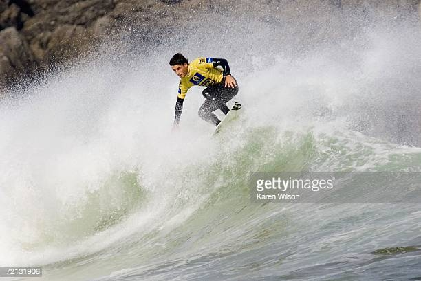Wildcard Hodei Collazo from Spain finished equal 17th in round three of the Billabong Pro Mundaka on October 10 2006 in Mundaka Spain Collazo faced...