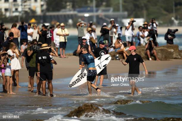 Wildcard surfer Mikey Wright heads back to the each after surfing his way to a huge upset win against Current World No 1 John John Florence in the...