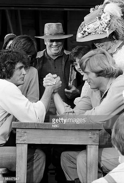 PRAIRIE Wilder and Wilder Episode 20 Aired 2/11/80 Pictured Michael Landon as Charles Philip Ingalls unknown Jonathan Gilbert as Willie Oleson Dean...