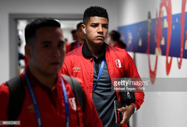Wilder Cartagena of Peru arrives at the stadium prior to the 2018 FIFA World Cup Russia group C match between France and Peru at Ekaterinburg Arena...
