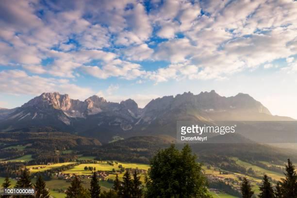 Wilder Kaiser, Austria, Tirol - amanecer en las montañas de Kaiser