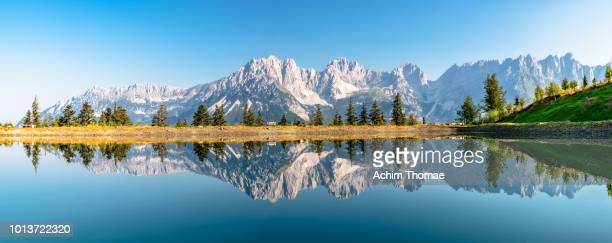 wilder kaiser, tyrol, austria, europe - mountain range stock pictures, royalty-free photos & images