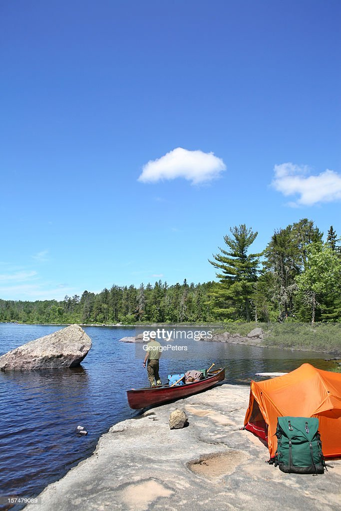 Wilderness Camping : Stock Photo