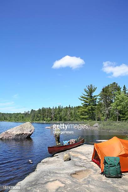 wilderness camping - boundary waters canoe area stock pictures, royalty-free photos & images