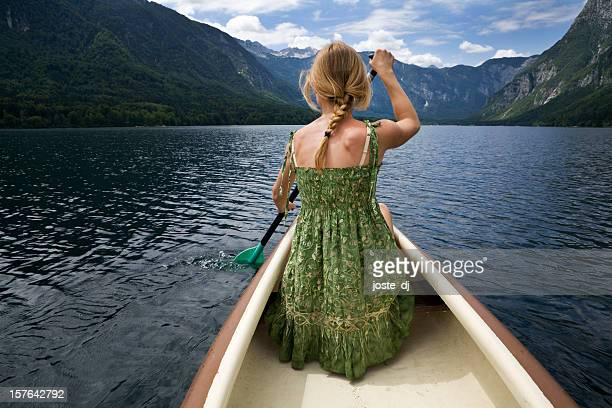 Wilderness escape on a canoe