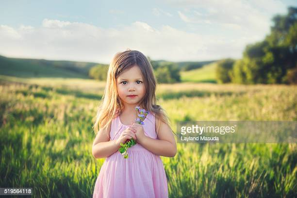 Wildflowers - Three Year Old Girl