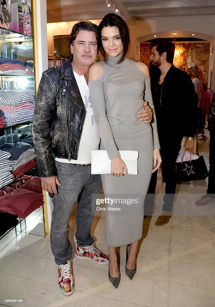 Wildfox CEO Jimmy Sommers (L) and Kendall Jenner attend the Barbie Loves Wildfox party celebrating the Resort 2014 collaboration launch at the Wildfox Flagship Store on November 20, 2014 in West Hollywood, California