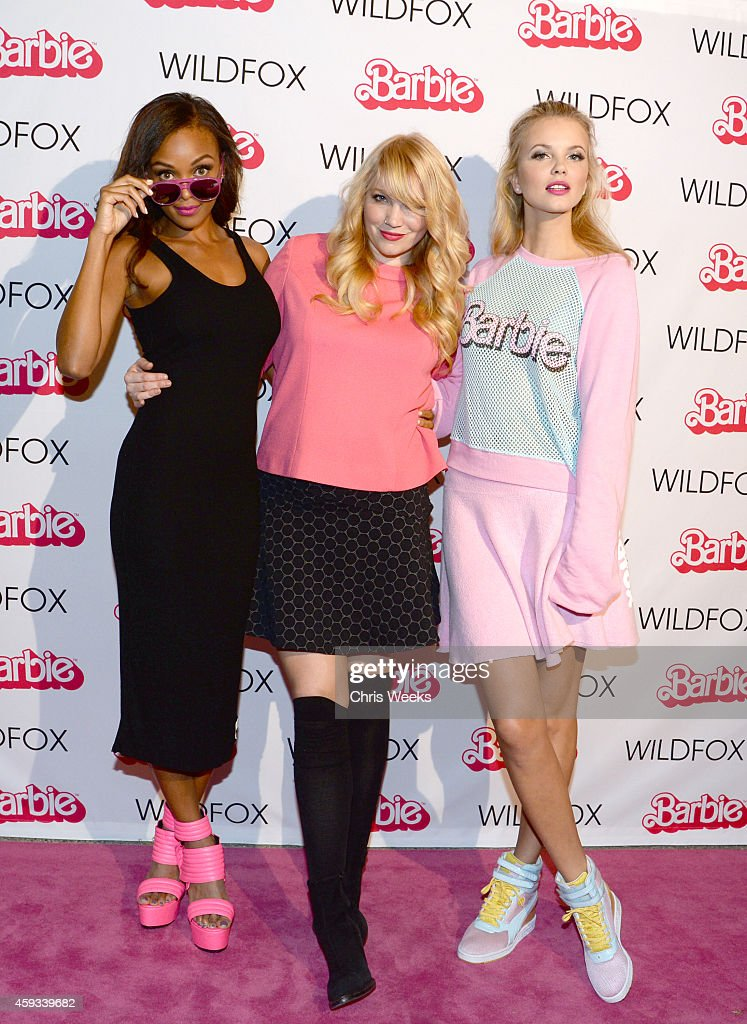 Wildfox Resort campaign model Merethe Hopland, Wildfox Creative Director Kimberley Gordon, and Wildfox Resort campaign model Kirby Griffin attend the Barbie Loves Wildfox party celebrating the Resort 2014 collaboration launch at the Wildfox Flagship Store on November 20, 2014 in West Hollywood, California