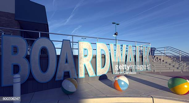 wildwood, new jersey beach and boardwalk - cape may stock pictures, royalty-free photos & images
