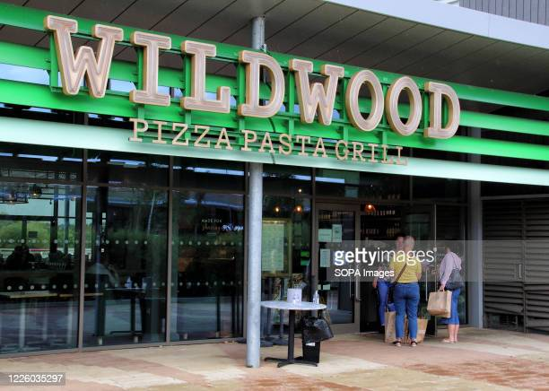 Wildwood Pizza and Pasta Grill logo seen at one of their branches.