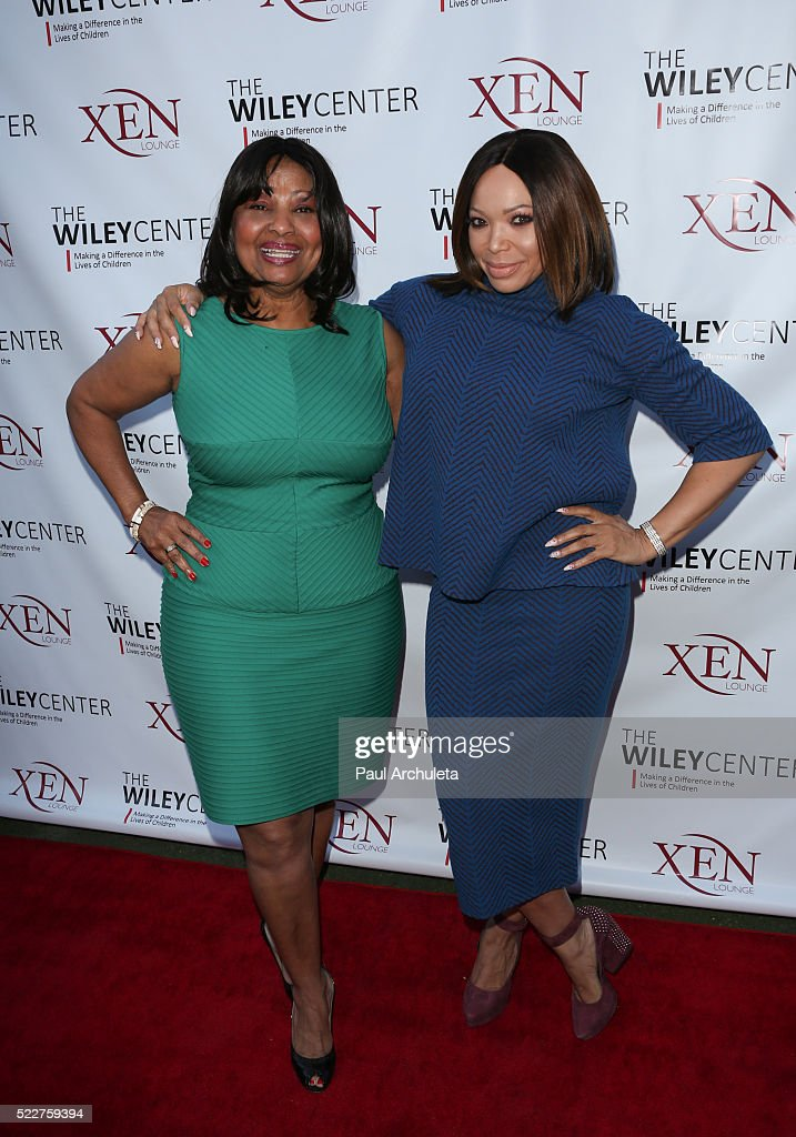Wiley Center founder Pamela Wiley (L) and Actress Tisha Campbell Martin (R) attend the benefit for children with autism at Xen Lounge on April 17, 2016 in Studio City, California.