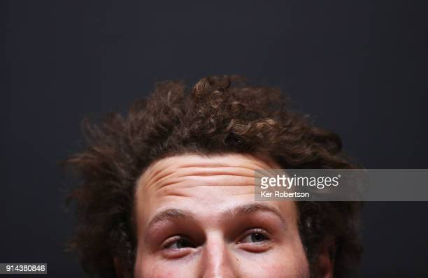 Wiley Maple of the United States men's alpine squad attends a press conference at the Main Press Centre during previews ahead of the PyeongChang 2018...